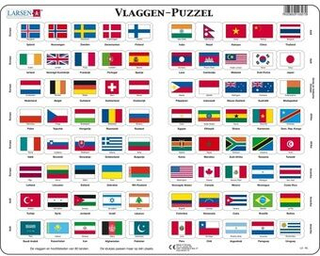 Puslespil MaxiFlags of the World 80 stykker