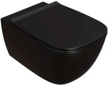 Lavabo Genesis Rimless vägghängd toalett med antibakteriell yta, matt svart