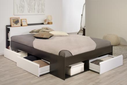 Most seng med skuffer 140×200