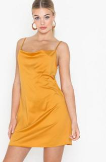 Missguided Satin Cowl Cami Dress Festkjoler