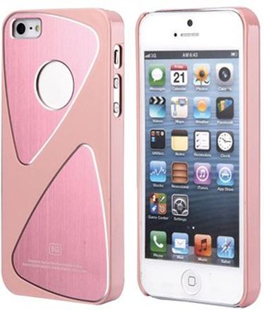 Metalic S-Line iPhone 5 skal (rosa)