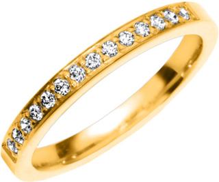 Vigselring Safira Shine Ligonier 18k guld, Cubic Zirconia 0,14 ct