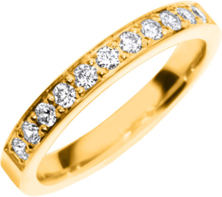 Vigselring Safira Shine Rhinebeck 18k guld, Cubic Zirconia 0,33 ct