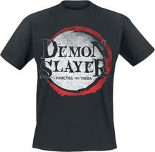 Demon Slayer - Demon Logo -T-skjorte - svart