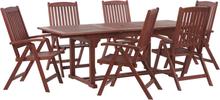 Puutarharyhmä 6 tuolia TOSCANA