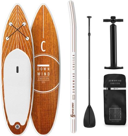 Downwind Cruiser M uppblåsbar paddelsurfing-set 330x10x77 orange