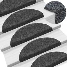 Selvklebende trappematter 15 stk 54x16x4cm - mørk grå