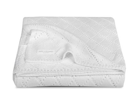 Blanket bamboo 75x100cm Crochetwhite, Jollein