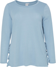 JUNAROSE Long Sleeved Long Sleeved Top Women Blue