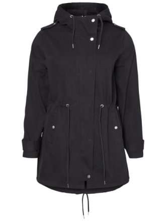 JUNAROSE Parka Coat Women Black