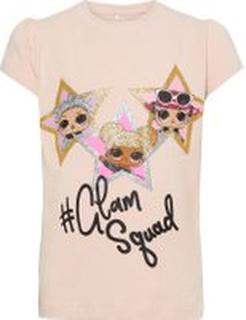 NAME IT Mini Lol Doll Print T-shirt Kvinna Rosa