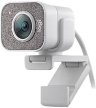 Logitech StreamCam - Webkamera - farve - 1920 x 1080 - 1080p - audio - USB-C 3.1 Gen 1 - MJPEG, YUY2 - WHITE