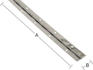 Pianogångjärn Habo 195 32X840mm Förnicklat Stål