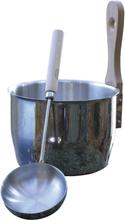 Bastuset Saunia Rostfritt Stål stäva och skål