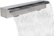 vidaXL Rektangulärt vattenfall poolfontän i rostfritt stål 60 cm