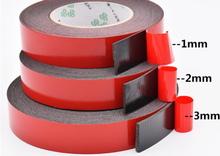 SZBFT 1-3mm thickness Black Super Strong Self Adhesive Foam Car Double Sided Tape Mobile phone dust-proof tape