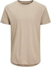 JACK & JONES Ekologisk Bomull, Svängd Fåll - T-shirt Man Beige; Brown