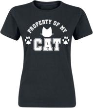 Property Of My Cat - -T-skjorte - svart