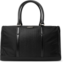Shell And Pelle Tesutta Leather Holdall - Black
