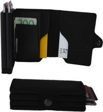 Plånbok med dubbla korthållare Safecard Konstläder Svart