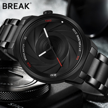 BREAK Unique Design Photographer Series Men Women Unisex Wristwatch Stainless Steel Quartz Sports Creative Casual Fashion Watch