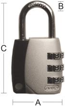 Hänglås Abus 155-30 Silver/Svart