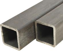 vidaXL Fyrkantsrör konstruktionsstål 2 st 1m 80mm