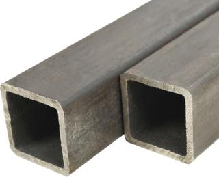 vidaXL strukturelle stålrør 2 stk. firkantet bokssektion 1 m 50 x 50 x 2 mm