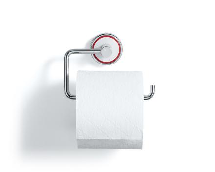 Rode toalettpapirholder hvit