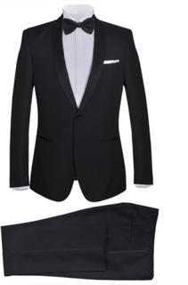 Vidaxl mörk kostym herrar strl. 46 svart