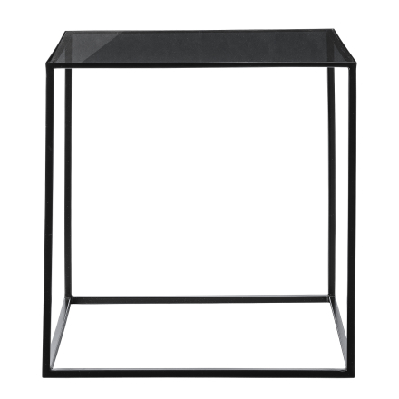 Bloomingville Cube Bord, Sort Ramme m/Røykfarget Glass Top