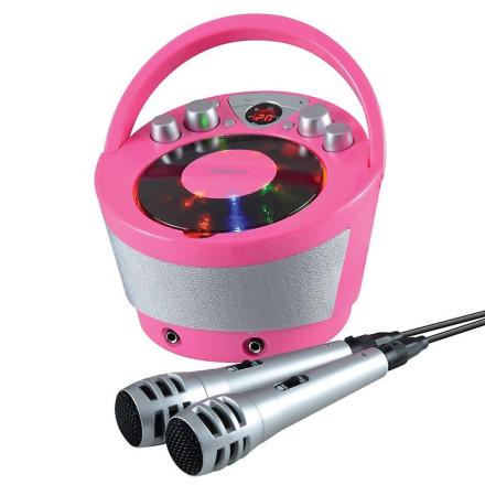 Groov-e GVPS923PK bærbare Karaoke ghettoblaster med CD-afspiller og...