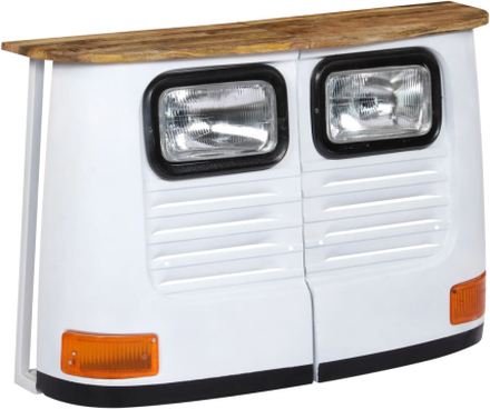 vidaXL Skänk i massivt mangoträ lastbil vit