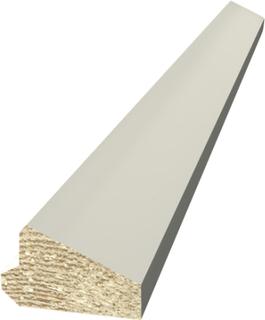 Skugglist Moelven 21x33mm Vitmålad Furu 4,2m