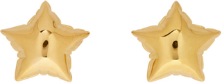 Marc Jacobs Gold The Balloon Star Studs Earrings