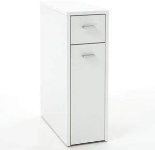 FMD Kommode med 2 skuffer 20x45x61 cm hvit 930-001