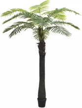 vidaXL Konstväxt Palmträd med kruka 310 cm grön