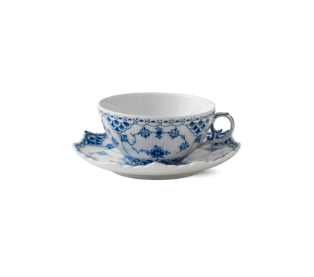 Royal Copenhagen Blue Fluted Full Lace Kopp m/ skål 22 cl