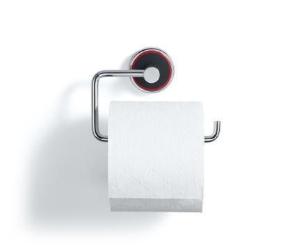 Rode toalettpapirholder sort