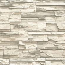 RoomMates Veggpanel skrell-og-lim naturlig stein beige RMK9026WP