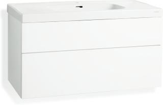 Underskåp Svedbergs Forma Till Tvättställ Med 2 Lådor 100 x 45 Vit