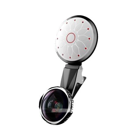 Selfielys m/ fisheye-linse