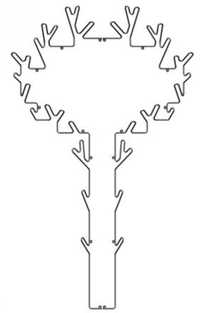 Maze Interiør Tree Hanger Sort