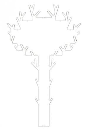 Maze Interiør Tree Hanger Hvit