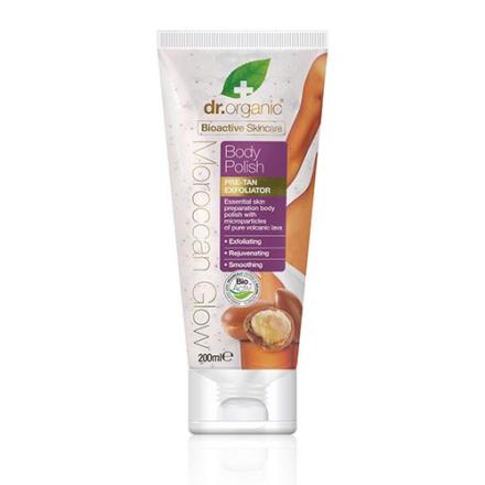 Dr. Organic Moroccan Glow Body polish pre-tan exfoliator (200 ml)