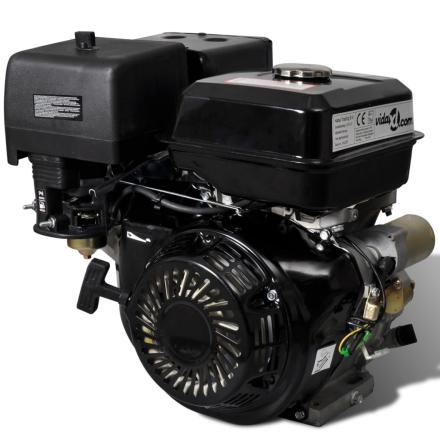 vidaXL Bensinmotor 15 HP 9,6 kW svart
