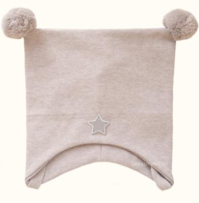 Kivat vårlue til barn med stjerne, beige