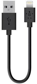 Belkin Sync Charge Kabel - iPhone X/XR/XS max/6/6S/iPad Pro - Sort
