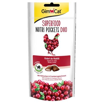 GimCat Superfood Nutri Pockets - Kylling & tranebær 60 g