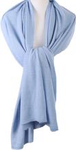 Kasjmier-blend sjaal/omslagdoek in ijsblauw